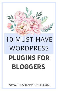 If you are a blogger and you have just created your own website on Wordpress, this post is surely for you! I will show you 10 must-have Wordpress Plugins for bloggers that will be very helpful for you & why is important to have this plugins! #wordpressplugins #bloggingtips #websitetips How To Start A Blog, How To Make Money, Blog Writing, Writing Tips, Work From Home Tips, Create Your Own Website, Blogger Tips, Wordpress Plugins, Blogging For Beginners
