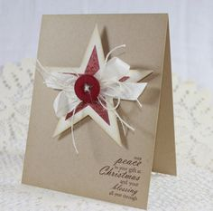 Handmade Holiday  Christmas Greeting Card