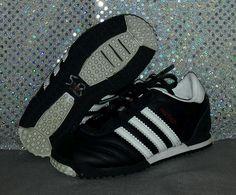 adidas Originals Toddler Boys Panther Shoe Leather Black/White Size 8K VGUC #adidas #Athletic