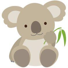 Cute Koala This adorable koala emoticon is ready to be shared on. Felt Animals, Baby Animals, Cute Animals, Illustration Koala, Logo Animal, 2 Baby, Safari Party, Applique Patterns, Cute Cartoon