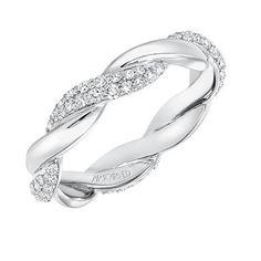 Artcarved 14K White Gold Diamond Twist Wedding Band/Anniversary Ring · 33-V13C-L · Ben Garelick Jewelers