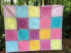 Driving Miss Stacey: Bandana Quilts | Simple quick quilt from bandanas