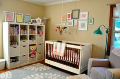 Modern meets eclectic - #nursery #love
