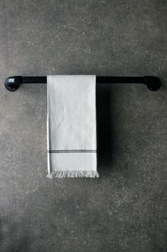 Industrial Towel Rail - Black - Two Sizes Available