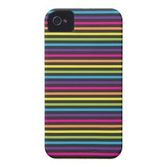 Colorful Rainbow Stripes Pattern Gifts for Teens iPhone 4 Cases