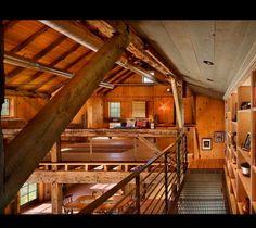 Rustic open loft design