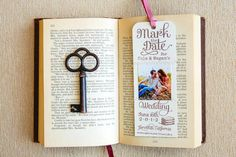 The bookmark save the dates were a prelude to the book wedding invites. {The Goodness Photography & Design}