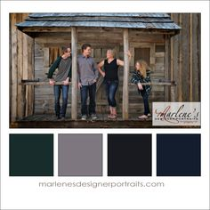 My Rustic Set is perfect for a Green, Grey, Black and Blue Colour Palette.