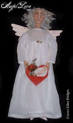 Angel Love Cloth Doll Primitive Folk Art EPattern ETSY- http://www.etsy.com/listing/39511421/angel-love-cloth-doll-primitive-folk-art