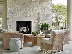 Serene and inviting traditional stone house in North Carolina