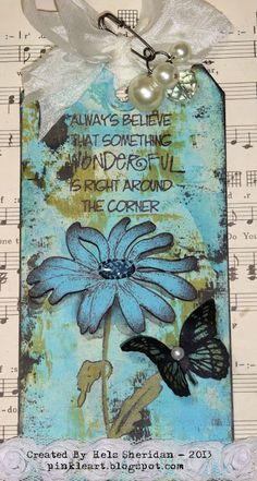 Always believe that something wonderful is right around the corner. I always trust that God has a joyful plan for you and me. ~ Ink on My Fingers: Sunday Stamper - Week 255 - Blue Jay Way Atc Cards, Card Tags, Gift Tags, Blue Jay Way, Timmy Time, Card Sentiments, Art Journal Pages, Junk Journal, Art Journals