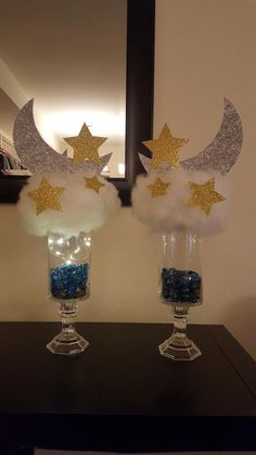 Twinkle twinkle little star centerpiece Baby Girl Shower Themes, Baby Shower Decorations For Boys, Baby Shower Fun, Baby Shower Gender Reveal, Star Centerpieces, Baby Shower Centerpieces, Star Baby Showers, Twinkle Twinkle Little Star, Partys