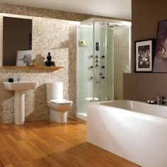 1000 images about contemporary suites on pinterest for Wickes bathroom wallpaper