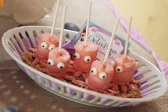 Cute octopops from a Little Mermaid Birthday Party!  See more party ideas at CatchMyParty.com!
