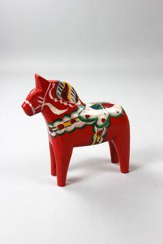 Dalarna Pferd dala pferd nils schweden rotes pferd scandivaische vintage