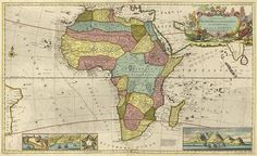 map of Africa (Hermann Moll in 1710)