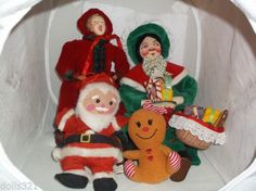 CHRISTMAS DOLLS ORNAMENTS LOT,SANTA, CAROLER,GINGER-BREAD,MRS.SANTA BAGS OF TOYS in Collectibles, Holiday & Seasonal, Christmas: Modern (1946-90), Ornaments, Other Mod. Christmas Ornaments | eBay