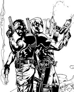 The Punisher and Deadpool