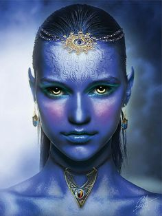 Elf... awesome artwork.   goddess, empress, priestess, fem wizard, druid, wicca, angel, valkyere, queen, princess