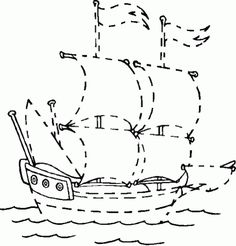pointille-bateau-de-pirate Day Camp Activities, Pirate Activities, Pirate Art, Pirate Theme, Pirate Preschool, Bateau Pirate, Mermaid Crafts, Summer Camps For Kids, Fall Patterns