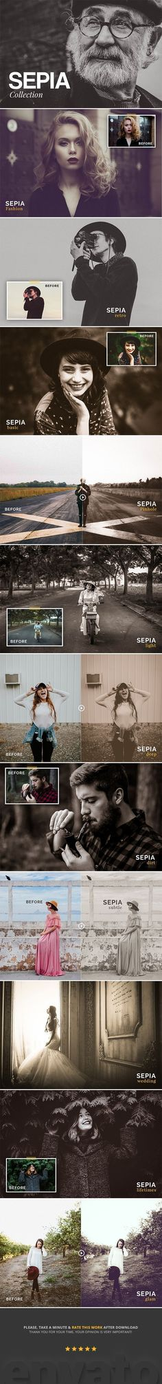 Sepia Collection Lightroom Presets by HYDROZi Sepia Presets is a collection of old-style sepia presets for Adobe Lightroom that helps photographers to make their photos emotion