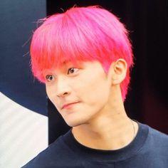 Mark Lee, Taeyong, Jaehyun, Nct 127 Mark, City Boy, Kpop Boy, K Idols, Pink Hair, Nct Dream