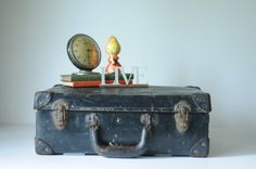 Antique Suitcase  Bell South Linemans Bag Toolbox by PageScrappers, $48.00