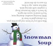 Snowman Soup printable. I just did this last night. My second Pinterest actually did it....