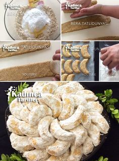 Mandel Kavala Keks Rezept, How To - Weibliche Rezepte - Mandel Kavala Keks Rezept - Turkish Sweets, Arabic Sweets, Delicious Desserts, Yummy Food, Chocolate Turtles, Recipe Sites, Fresh Fruits And Vegetables, Turkish Recipes, Almond Recipes