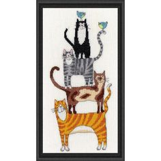 Bothy Threads Cat Stack Counted Cross-Stitch Kit - Herrschners #kitten