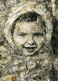 Vik Muniz and the Photography of Photography in art  Category -- Vic, 2 Years Old, Album, 2014, 99.5 x 71 inches