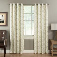 dove Lattice Berkshire Grommet Top Window Curtain Panel - BedBathandBeyond.com