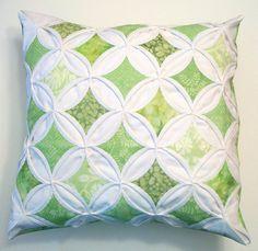 Decorative Pillow Throw Pillow Batik Green by warmnfuzzies on Etsy, $47.50