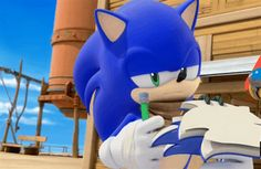 One of the reasons why I love Sonic Boom it's so funny and Sonics planner is himself!!