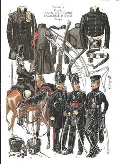 soldatini uniformi e storia militare: Prusse Corps de Luetzow - Cavalerie 1813-1815