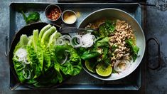 Great dishes to turn into a shared meal: cinnamon braised beef, and chicken larb with roasted rice. Meat Recipes, Asian Recipes, Chicken Recipes, Cooking Recipes, Healthy Recipes, Ethnic Recipes, Thai Cooking, Chicken Meals, Asian Cooking
