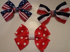 Amarica Hair Bows by bowsandmorestuff on Etsy
