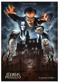 """alternative poster design """" the addams family """" Addams Family Cartoon, Addams Family Characters, The Addams Family, Wednesday Addams, Los Addams, Gomez And Morticia, Morticia Addams, Charles Addams, Tim Burton Characters"""