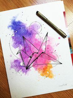 Art Painting Gallery, Sketch Painting, Watercolor Drawing, Watercolor Paintings, Cute Easy Drawings, Art Drawings Sketches Simple, Diy Canvas Art, Geometric Art, Art Sketchbook