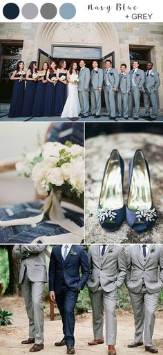 8 Best Navy Wedding Color Ideas for 2020 8 Best Navy Blue Wedding Color Ideas for 2020 elegant navy blue and grey wedding color ideas Emma Loves Weddings - Wedding Colors Gray And Navy Blue Wedding, Blue Grey Weddings, Grey Wedding Decor, Navy Wedding Colors, Navy Blue Wedding Theme, Coral Navy, Pink Weddings, Navy Blue Bridesmaids, Bridesmaid Dresses