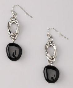 Look at this #zulilyfind! Black & Silver Mimi Earrings by Uptown Girls #zulilyfinds