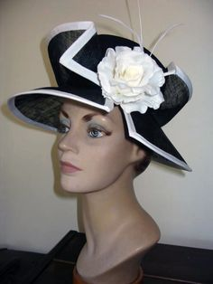 HAT ACADEMY LESSON 18 - CREATIVE CROWNS › Learn how to make double crowns using Basketweave sinamay ,split crowns, contrast crown tops  › Includes how to make a crown pattern from your block http://hatacademy.com/group/lesson-18-crowns