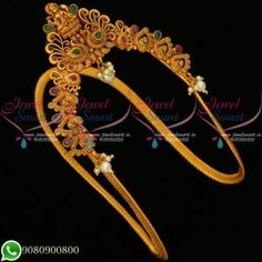 Temple Jewellery Aravanki Bridal Matte Gold Plated Online V20133