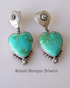 Turquoise Soul . . . Turquoise Heart Earrings by Rocki Gorman for Schaef Designs Jewelry