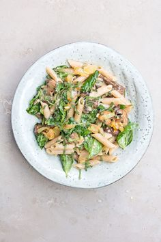 Creamy Mushroom and Herb Pasta - DeliciouslyElla