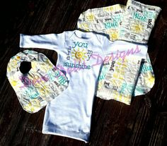Check out this item in my Etsy shop https://www.etsy.com/listing/241550559/infant-gown-you-are-my-sunshine-layette