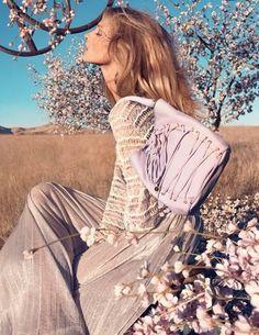 Anna Selezneva by Camilla Akrans for Blumarine Spring / Summer 2013 Campaign
