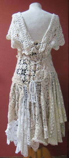 CUSTOM ORDER Lace Vintage Doilies Dress by askewasyou on Etsy, $0.20