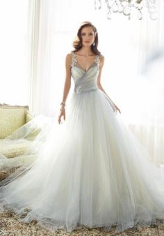Sophia Tolli ball gown with lace embellishments and corset I Style: Y11550 Nightingale I https://www.theknot.com/fashion/y11550-nightingale-sophia-tolli-wedding-dress?utm_source=pinterest.com&utm_medium=social&utm_content=june2016&utm_campaign=beauty-fashion&utm_simplereach=?sr_share=pinterest