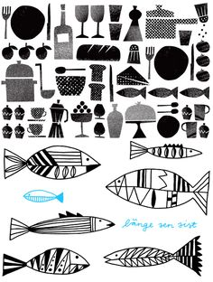 scandinavian graphic patterns | Sissi and Lisa design the most gorgeous patterns and illustrations ...